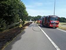 Brandweer druk met bermbrandjes in Achterhoek