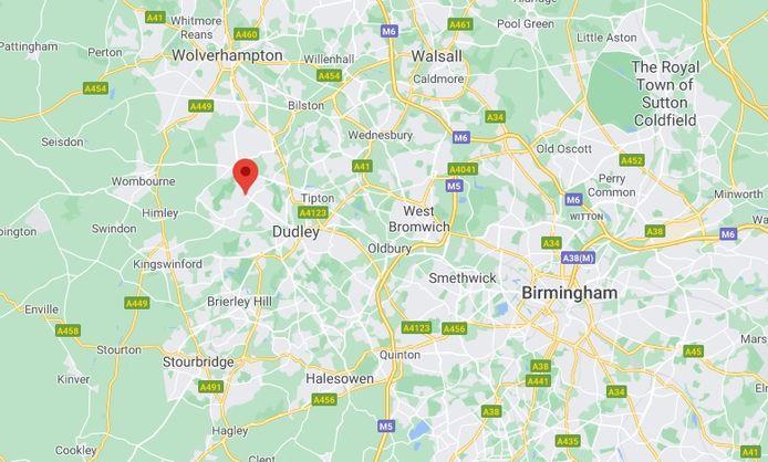 Upper Gornal ligt ten westen van Birmingham.