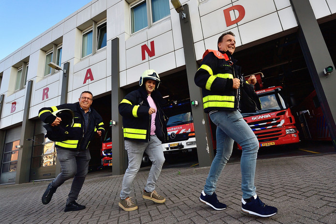 Gerard Verbogt, Kees van Hassel en Jean-Paul Vink van zeulbend Gift'm Kèès zijn al in training voor de vierde Cityrun.