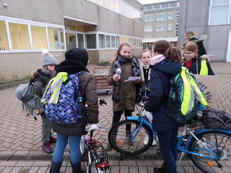In Sint-Franciscus gingen kinderen met ouders in gesprek over milieuvriendelijke maatregelen.