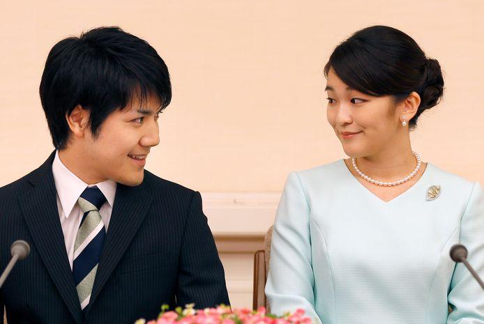 Prinses Mako en haar verloofde Kei Komuro
