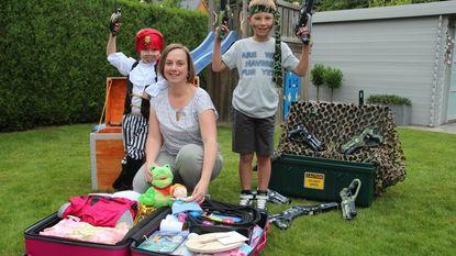 Kinderen vieren feestjes als piraat of prinses
