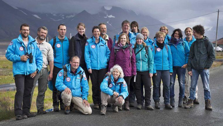 De groep wetenschappers en Bekende Nederlanders. Beeld anp