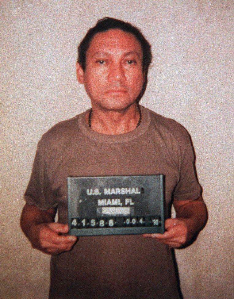 Noriega in 1990, na zijn arrestatie door de Amerikanen. Beeld AP