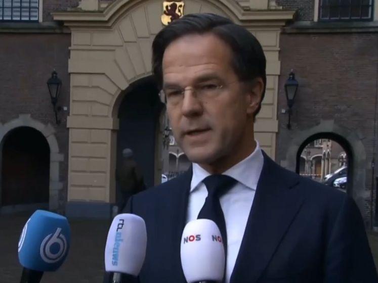 Premier Rutte: 'Rellen geen protest, maar crimineel geweld'