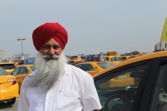 Hardev Otal, taxichauffeur in New York.