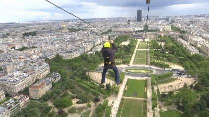 Vlieg mee met deze 800 meter lange death ride van de Eiffeltoren