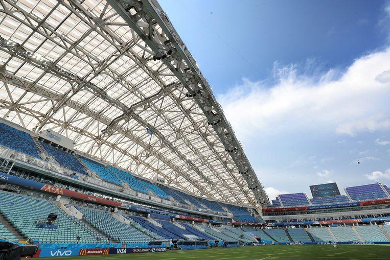 Het stadion van Sochi.