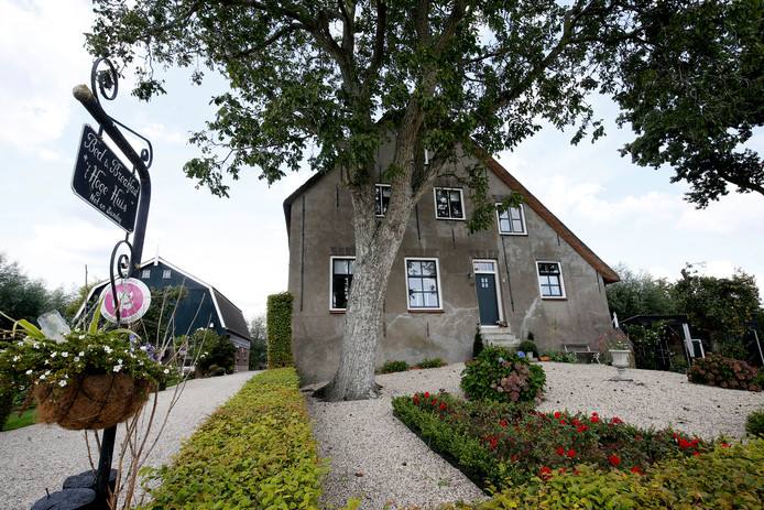 De 17e eeuwse boerderij aan de Brandwijksedijk, nu bed & breakfast 't Hoge Huis.