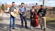 Folkband brengt ode aan cafébazin