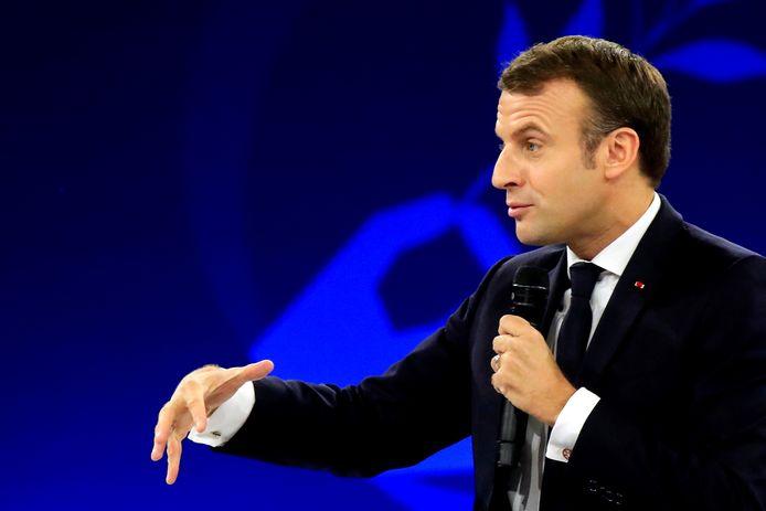 Emmanuel Macron, durant le forum de la Paix, à Paris, le 12 novembre.