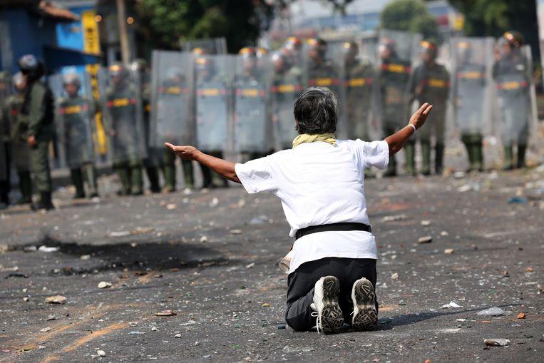 Betoger in Urena, Venezuela.