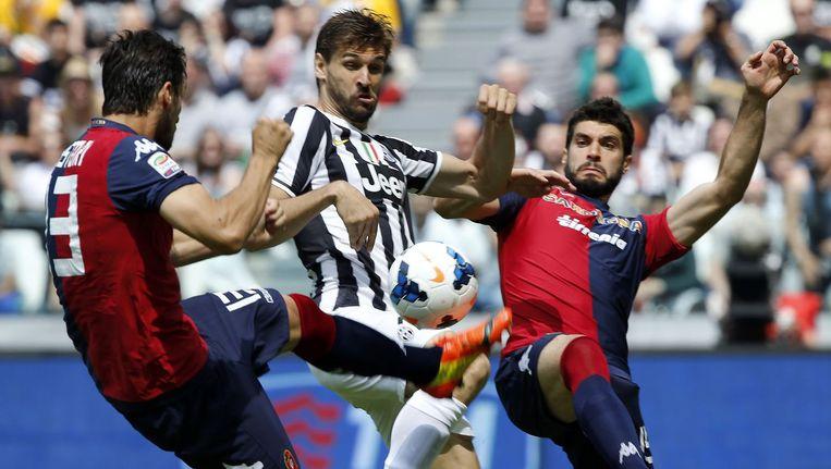 Cagliari in de wedstrijd tegen Juventus