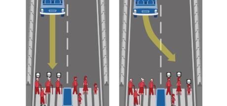 Wie moet de autonome auto aanrijden: de bejaarde of het kind?