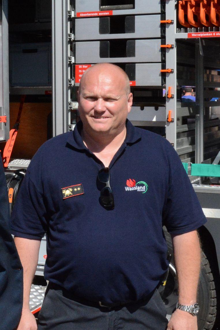 Commandant Gino Foubert raakte in 2002 zwaargewond bij een gasexplosie in Kruibeke.