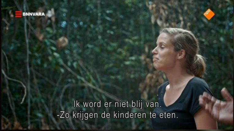 RTL-correspondent Sandra Korstjens in het nieuwe programma De Amazone. Beeld BNN-VARA