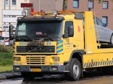 Bergingsvoertuig vat vlam in Veenendaal