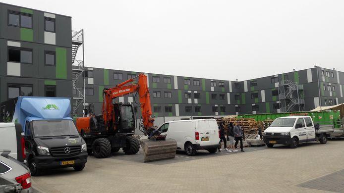 Het studiocomplex LH voor buitenlandse werknemers in Waalwijk.