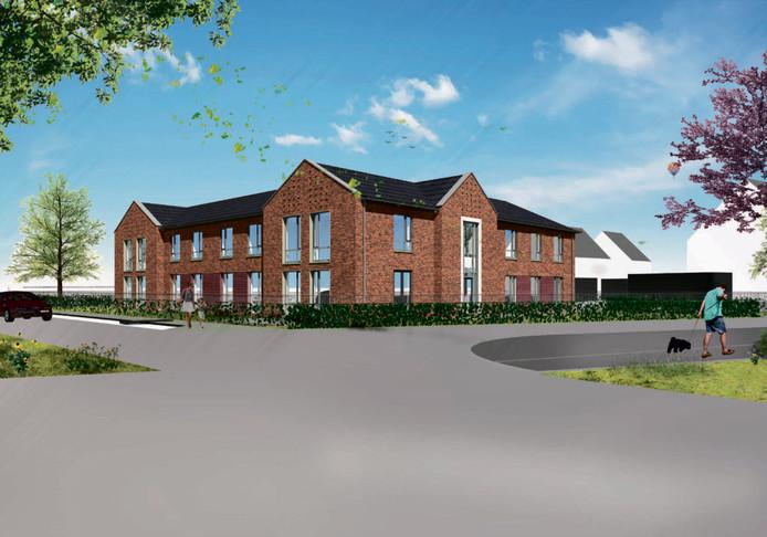 Het Beekdalhuis, de toekomstige woonzorgvoorziening voor mensen met dementie in Zuidbroek.