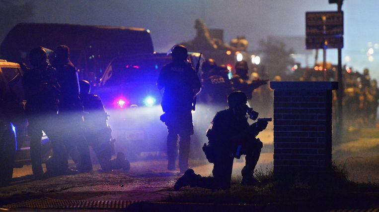 De rellen in Ferguson, vlak na de dood van Michael Brown.