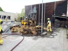 Brand in schuur met hooi bij Wellantcollege Ottoland