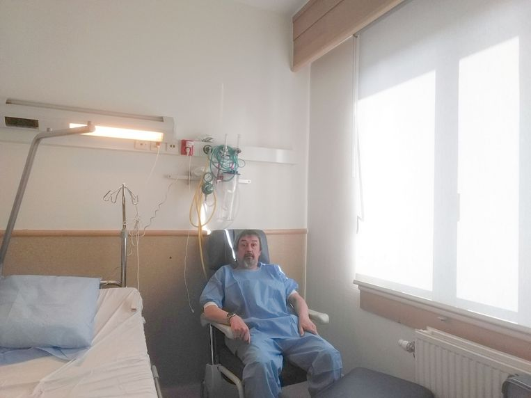 Philip Soubry (54) zit nog altijd in quarantaine in het Brusselse Sint-Pietersziekenhuis.