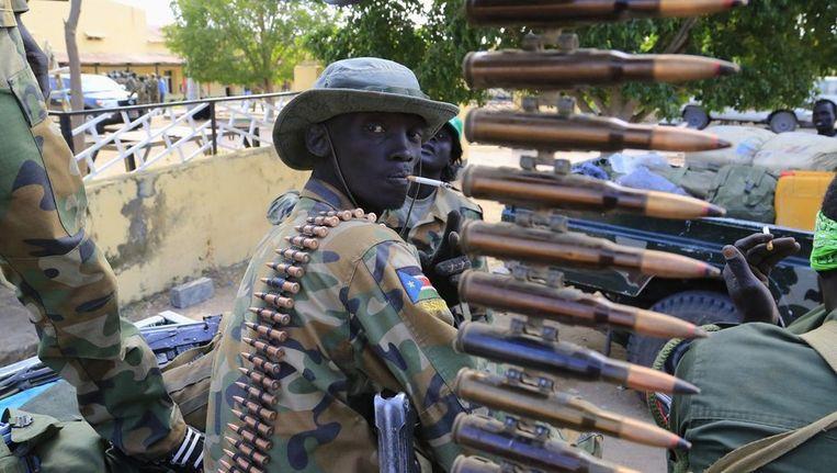 Een Zuid-Soedanese militair in Malakal.