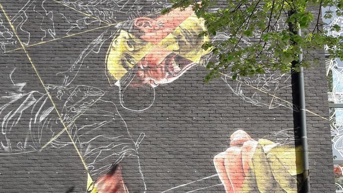 Street Art Festival Ede, het pand van Astrant aan het Kuiperplein