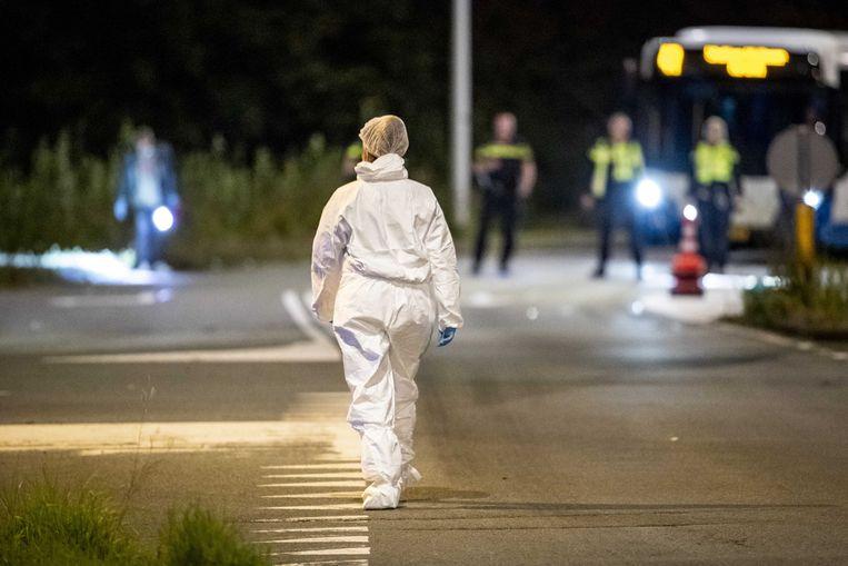 Politieonderzoek na de schietpartij. Beeld ANP