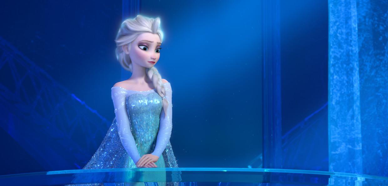 Elsa de sneeuwkoningin uit de film 'Frozen'.