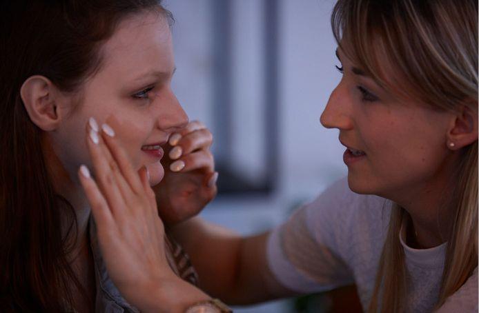 Nele Symons aan het werk tijdens één van haar workshops.
