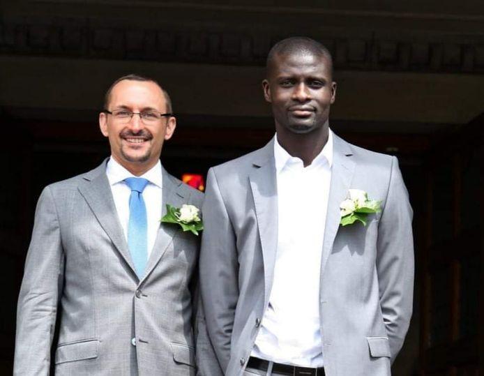 Mbaye Wade et son compagnon, l'avocat liégeois Pascal Rodeyns.