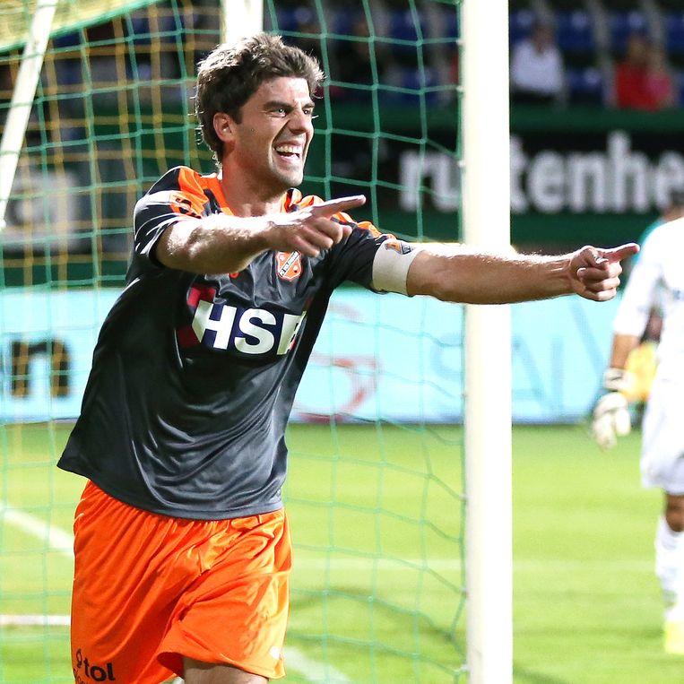 Kees Kwakman maakte er twee tegen Fortuna. Beeld pro shots