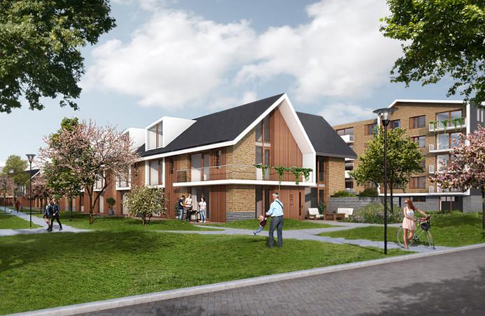 De oranje flatjes in het centrum van Capelle, bekend onder de naam de Hoven, maken plaats voor deze nieuwbouwwijk. Honderden sociale huurwoningen verdwijnen.