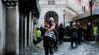 Venetië staat nog steeds onder water