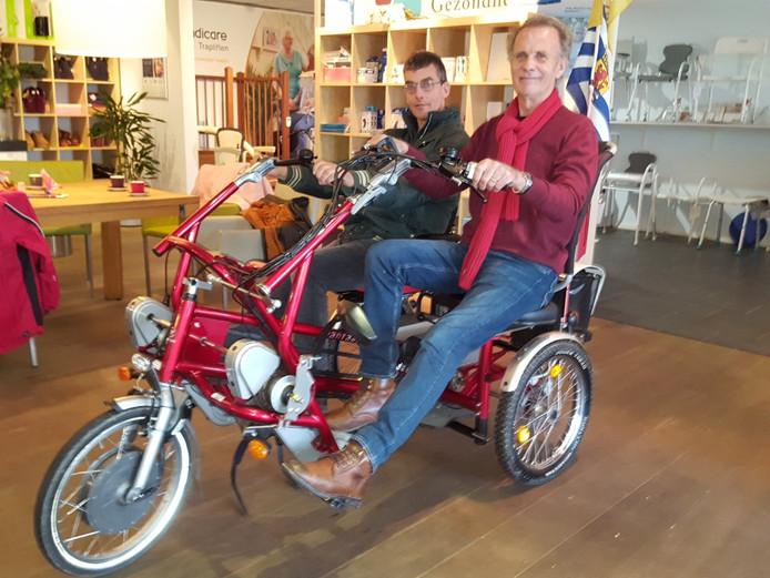 Zorgboerderij Rust na Onrust in Schore heeft een elektrische duofiets besteld.