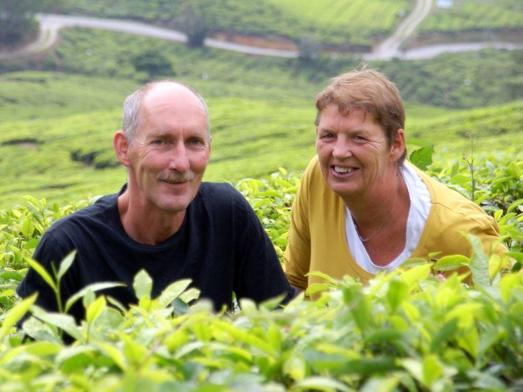 Antoine Camfferman en Lianne Camfferman-Janssen op een foto die is toegezonden door nabestaanden. Beeld -