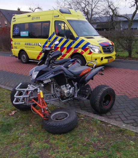 Wiel quad breekt af in Renkum, bestuurder ongedeerd