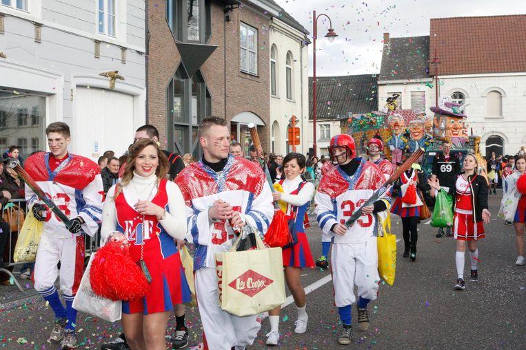 Archiefbeeld van carnaval in Zichem.