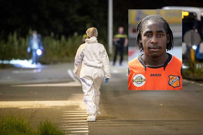 Het plaats delict, met als inzet Kelvin Maynard als speler van FC Volendam.