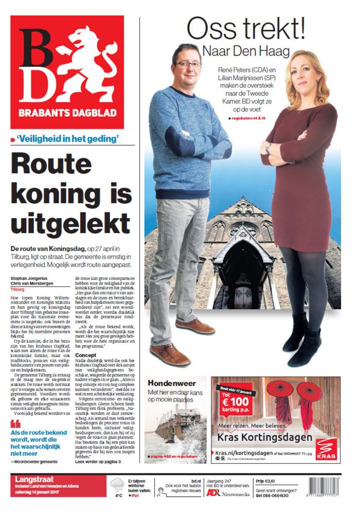 De 'koninklijke' route in Tilburg is uitgelekt: Brabant ...