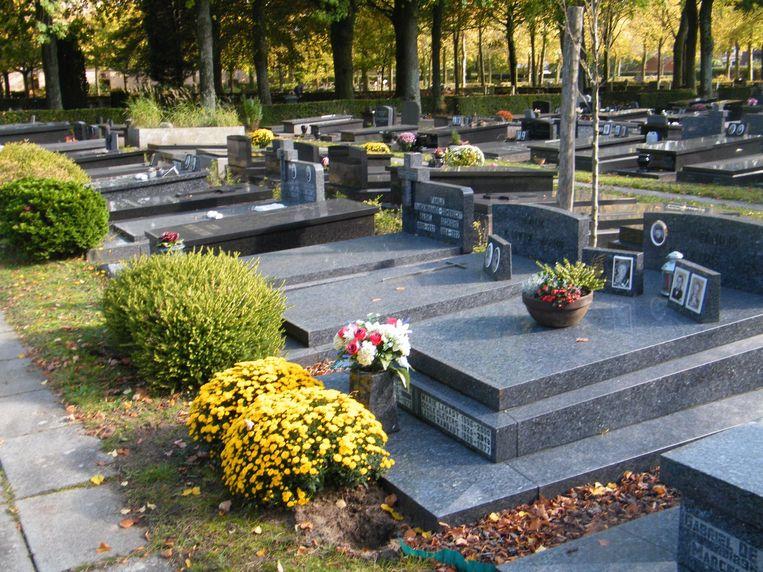 De begraafplaatsen in Brugge zijn massaal bebloemd.