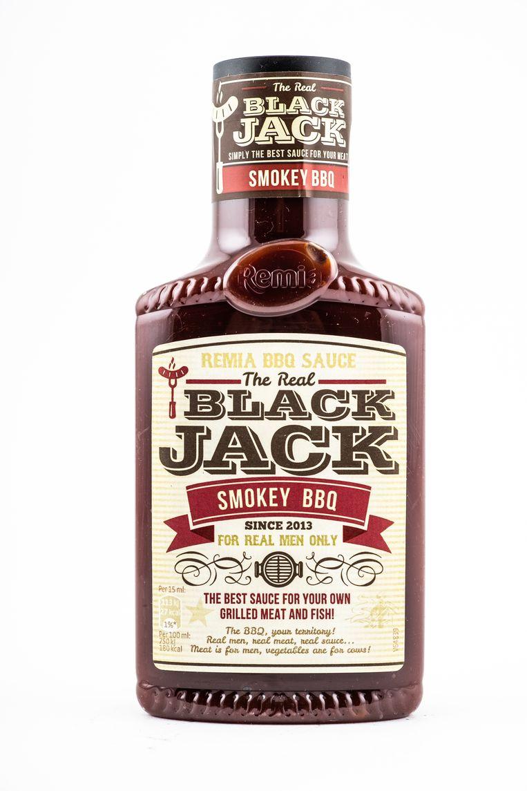 Alleen voor bij rood vlees, deze Black Jack barbecuesaus.