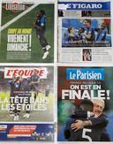 De kranten in Frankrijk.