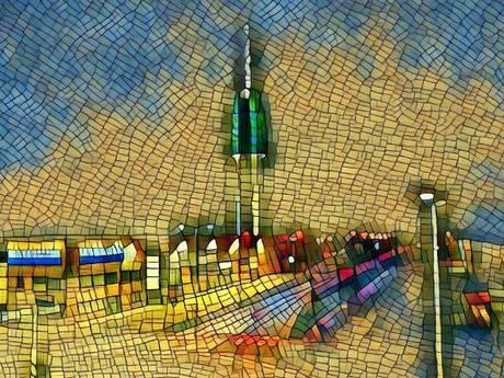Alphense kunstenares maakt schilderij van tv-toren