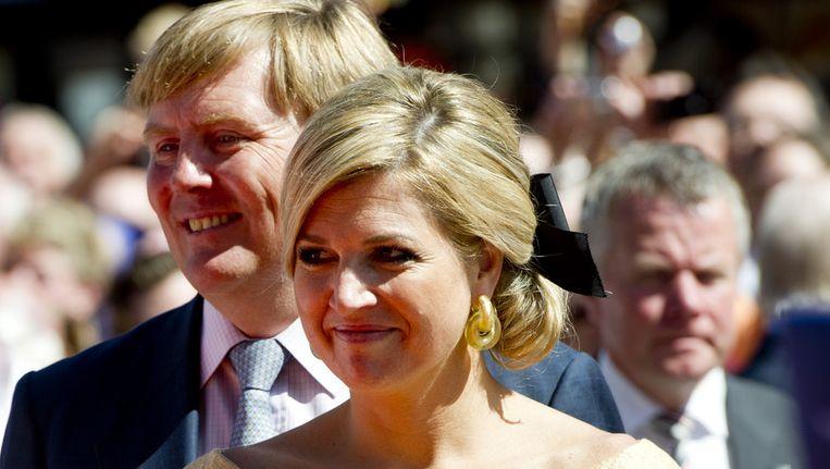 Máxima en Willem-Alexander dit jaar tijdens Koninginnedag. Beeld ANP