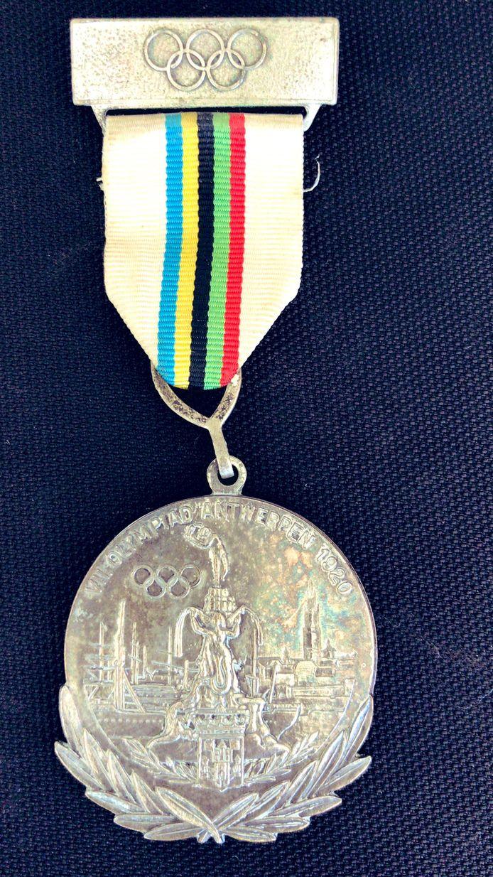 Olympische medaille Michiel van Veen Gemert Antwerpen 1920