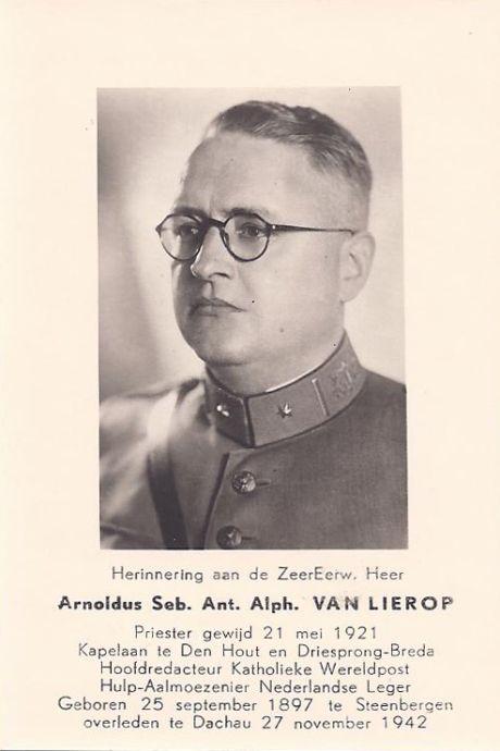 Arnold van Lierop, geloofsgetuige namens de 'Lügenküchen aus Breda'