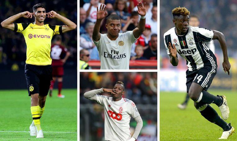 Hakimi, Mbappé, Djenepo en Kean staan allemaal op de 40-koppige lijst voor de Golden Boy Award.