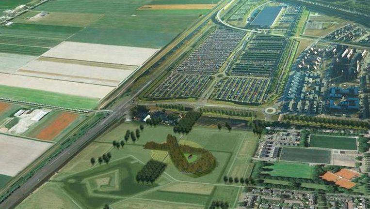 Ontwerp van het MH17-monument in Schiphol-Vijfhuizen. Beeld Robbert de Koning landschapsarchitect BNT / Duplo studio